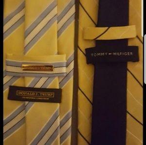 Mens yellow ties